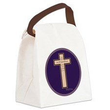 Psalm 136 26 Bible Verse Canvas Lunch Bag