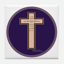 Psalm 136 26 Bible Verse Tile Coaster