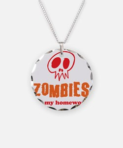 Zombies Ate My Homework Necklace