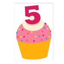 5th Birthday Cupcake Postcards (Package of 8)