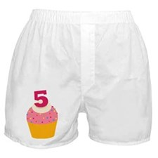 5th Birthday Cupcake Boxer Shorts