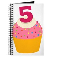5th Birthday Cupcake Journal