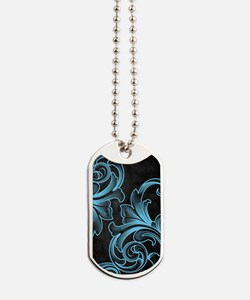 Blue Victorian Dog Tags