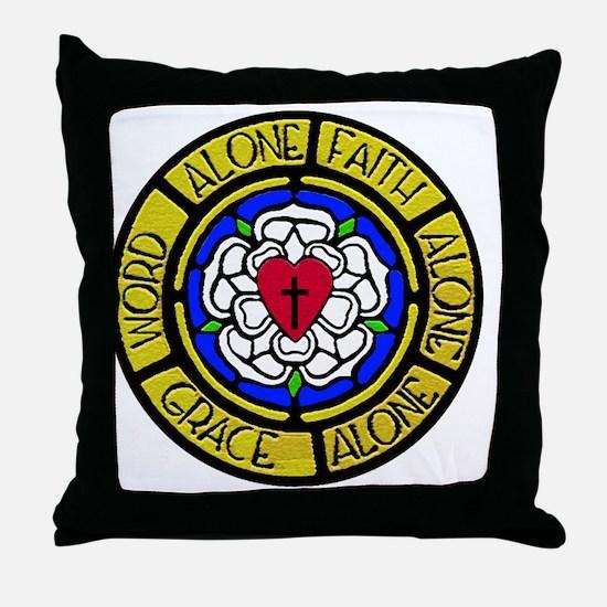 Grace-Faith-Word Wall Art Throw Pillow