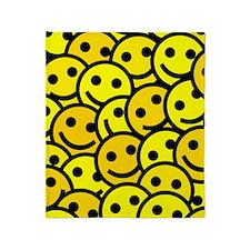 Smiley Faces Throw Blanket