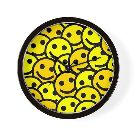 Smiley Faces Wall Clock