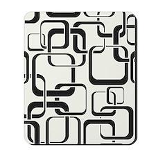 Black and White Retro Mousepad