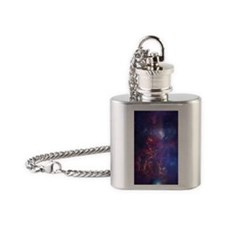 Milky Way Galaxy Flask Necklace
