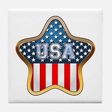 US Stars Tile Coaster