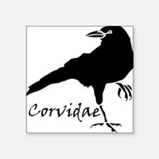 "Corvidae Square Sticker 3"" x 3"""