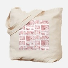 cottage toile shower curtain Tote Bag