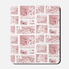 cottage toile shower curtain Mousepad