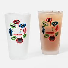 AVS Black Chat Drinking Glass
