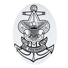 Sea Scout First Class Anchor Oval Ornament