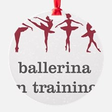 Ballerina in training, pink Ornament