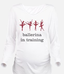 Ballerina in trainin Long Sleeve Maternity T-Shirt
