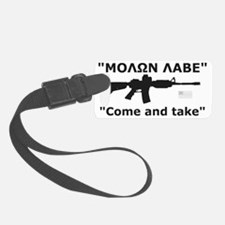 Come and Take Black Luggage Tag