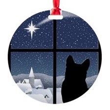 Silent Night Round Ornament