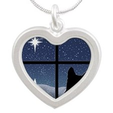 Silent Night Silver Heart Necklace