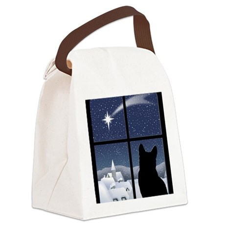Silent Night Canvas Lunch Bag