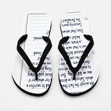 letter Flip Flops