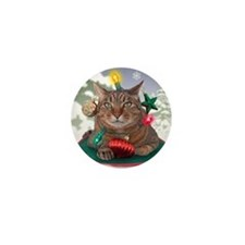 Catmas Tree Mini Button