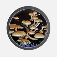 Humboldt Mushrooms Wall Clock