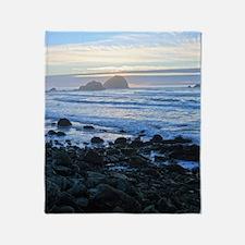 Lost Coast Sunset Throw Blanket