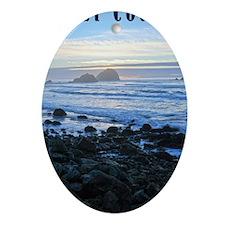 Lost Coast Sunset Oval Ornament