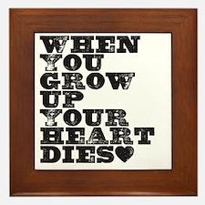 heart dies Framed Tile
