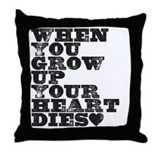 heart dies Throw Pillow