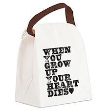 heart dies Canvas Lunch Bag