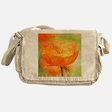 orange iceland poppy Messenger Bag