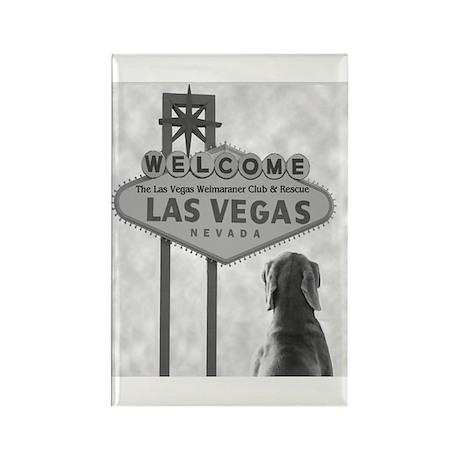 Vegas Weim Club Rectangle Magnet