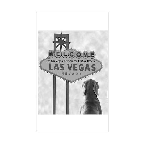 Vegas Weim Club Rectangle Sticker