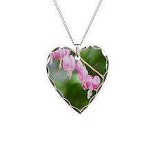 bleeding heart pink Necklace Heart Charm