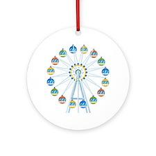 Ferris Wheel Round Ornament
