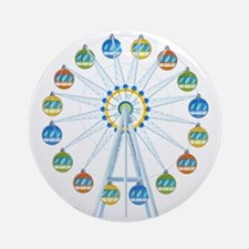 Ferris Wheel Round Ornament