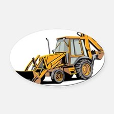 Earth Mover Oval Car Magnet