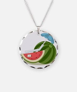 Watermelon at the Beach Necklace