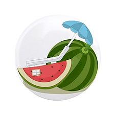 """Watermelon at the Beach 3.5"""" Button"""
