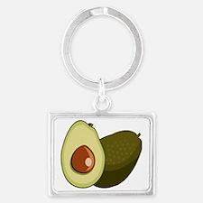Avocado Landscape Keychain