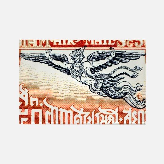 Antique Thailand 1925 Garuda Post Rectangle Magnet