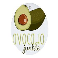 Avocado Junkie Oval Ornament