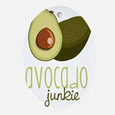 Avocado Junkie Oval Ornament