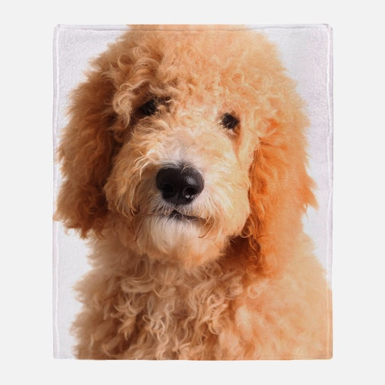 Golden doodle puppy Throw Blanket
