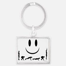 Burpees Landscape Keychain