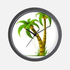 Cocunut Tree Wall Clock