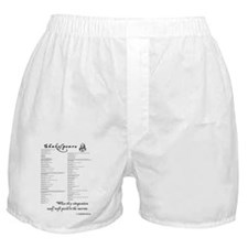 Shakespearean insults Boxer Shorts