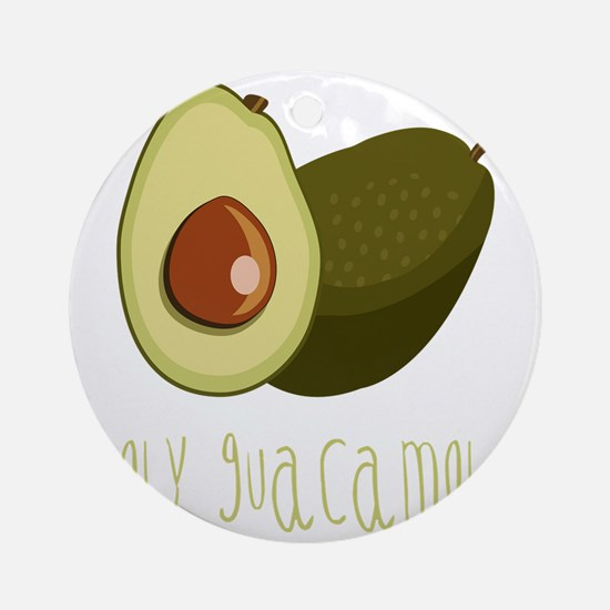 Holy Guacamole Round Ornament